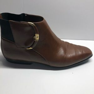 Connie brown booties made in Brazil